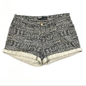 Urban Outfitters BDG Cream Black Shortie Shorts